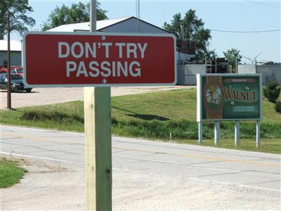 Burma Shave Don't Try  Passing