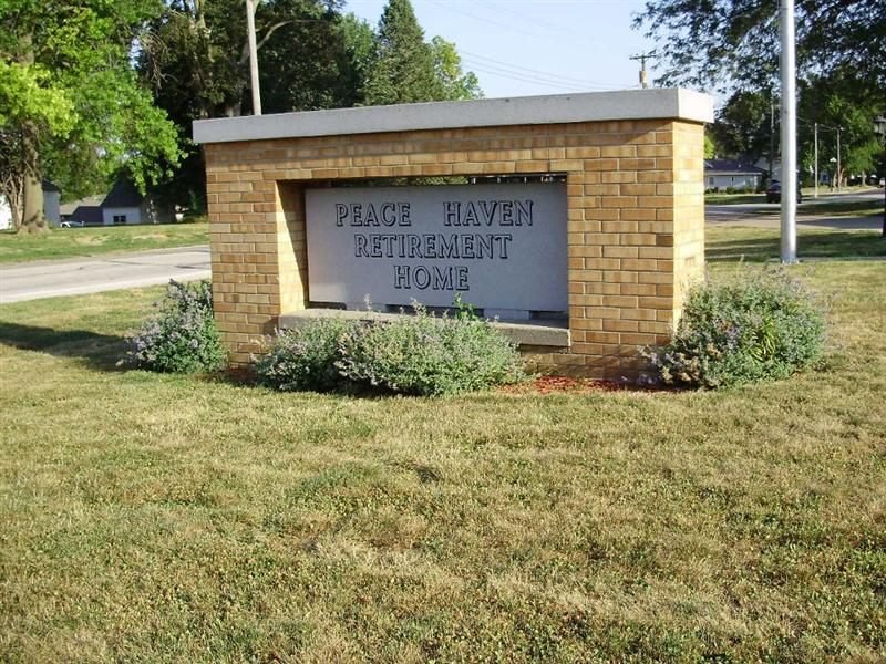 Peace Haven Sign